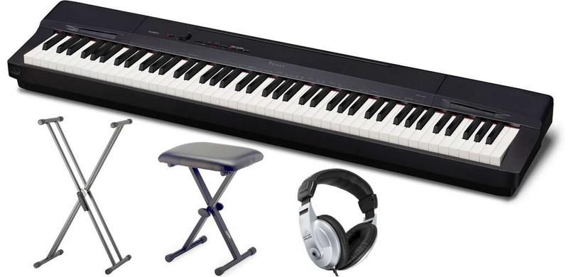 Pianul Casio are două difuzoare încorporate